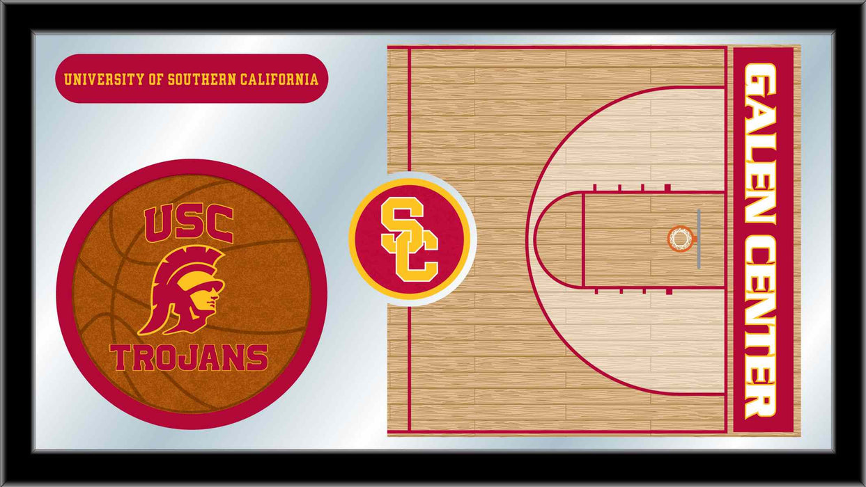 University of Southern California Basketball Bar Mirror | Man Cave Authority | MBsktSouCal