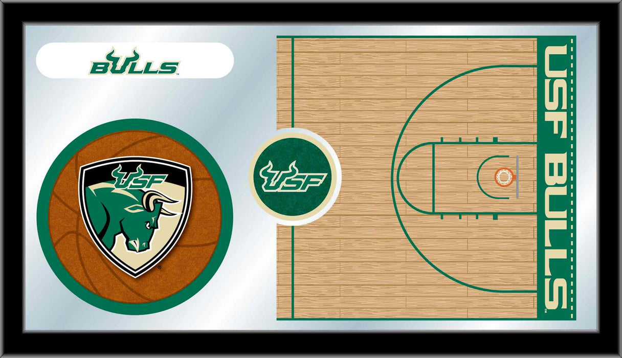 University of South Florida Basketball Bar Mirror | Man Cave Authority | MBsktSouFla