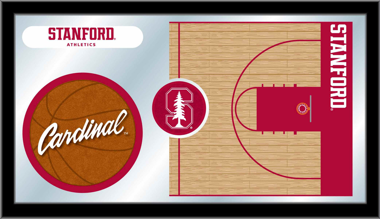 Stanford University Basketball Bar Mirror | Man Cave Authority | MBsktStnfrd