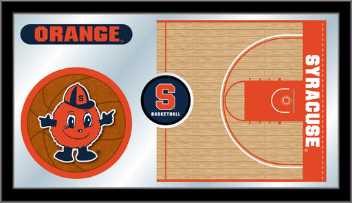 Syracuse University Basketball Bar Mirror | Man Cave Authority | MBsktSyrcse