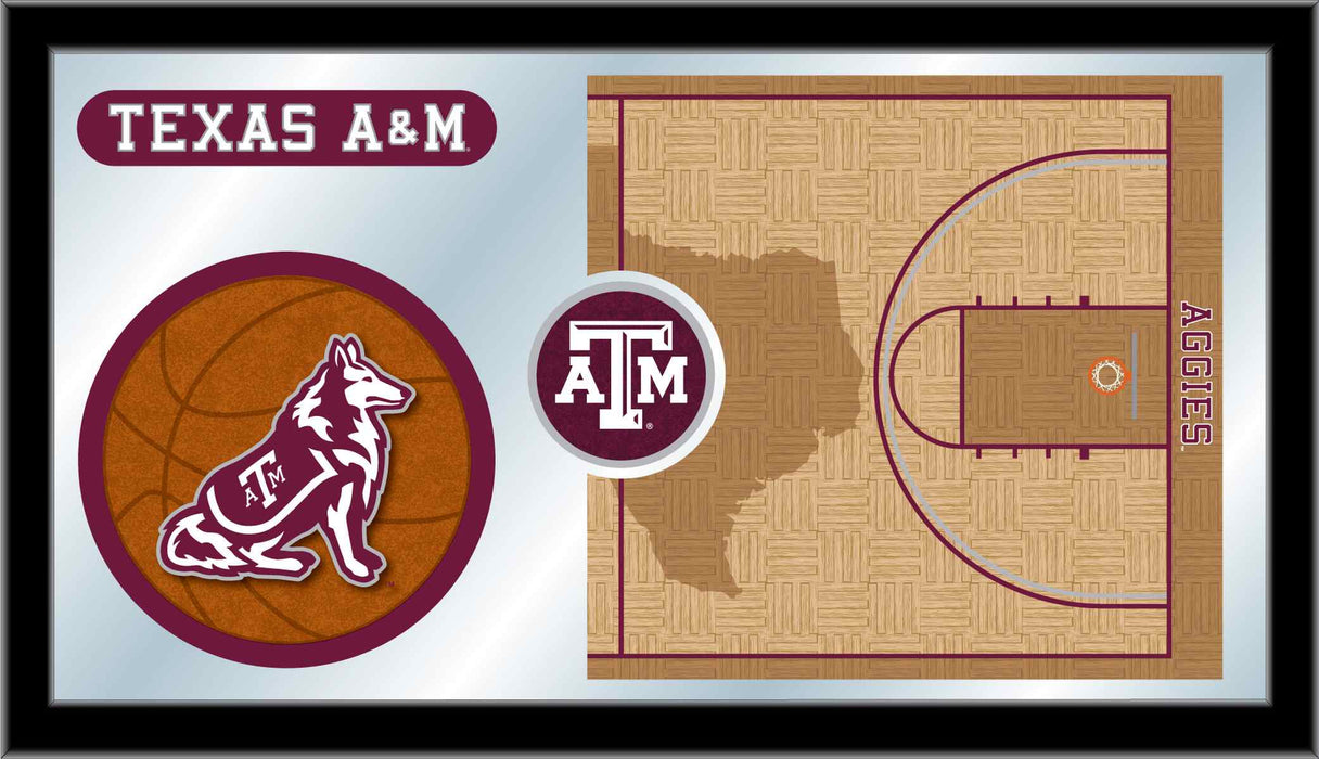 Texas A&M University Basketball Bar Mirror | Man Cave Authority | MBsktTexA-M