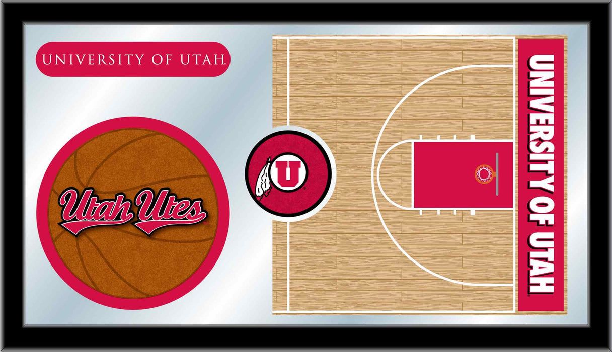 University of Utah Basketball Bar Mirror | Man Cave Authority | MBsktUtahUn