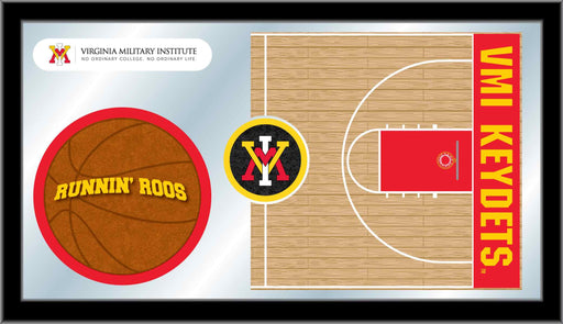 Virginia Military Institute Basketball Bar Mirror | Man Cave Authority | MBsktVAMilI