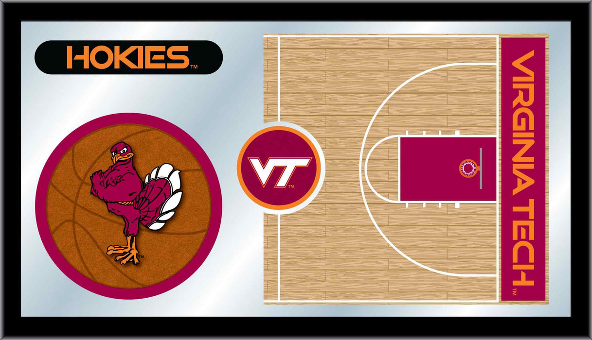 Virginia Tech University Basketball Bar Mirror | Man Cave Authority | MBsktVATech