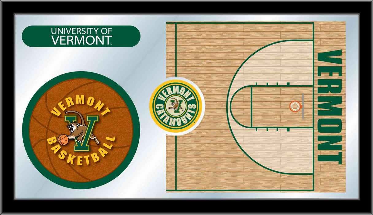 University of Vermont Basketball Bar Mirror | Man Cave Authority | MBsktVermnt