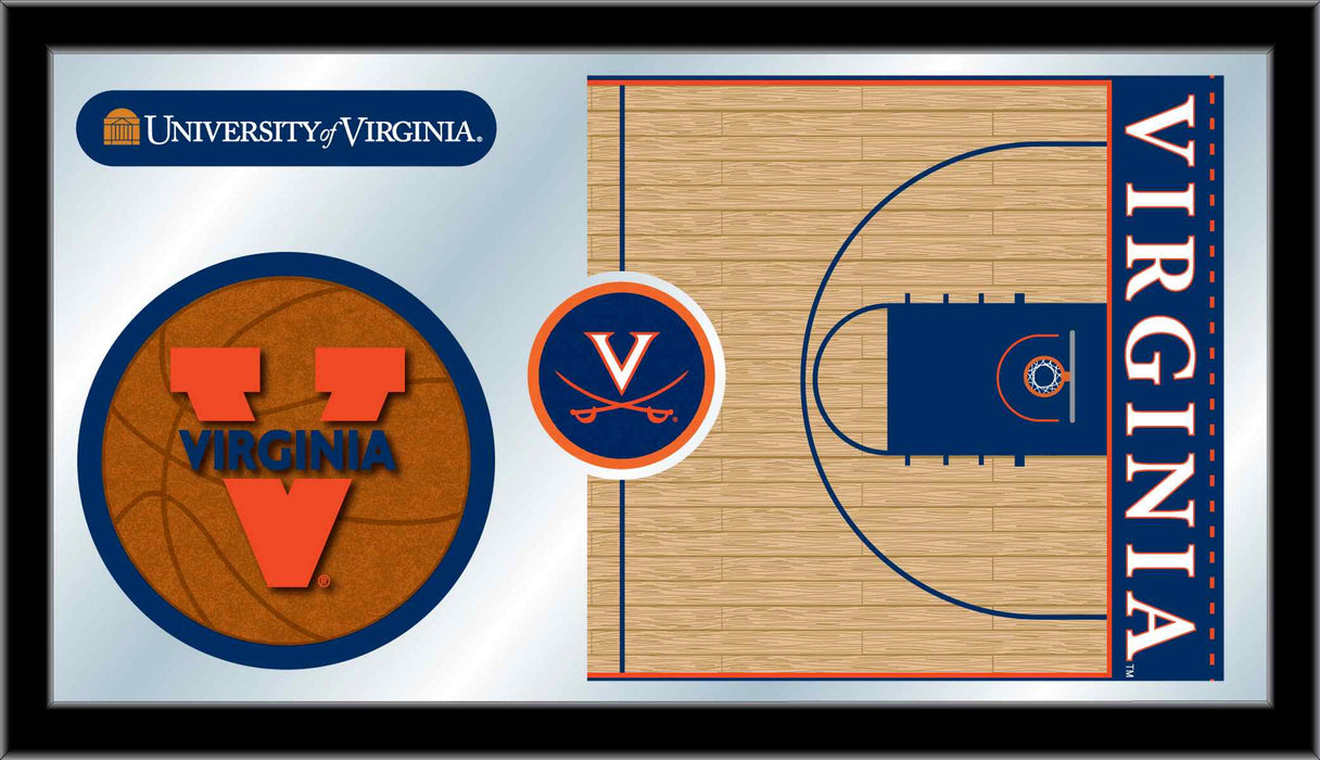 University of Virginia Basketball Bar Mirror | Man Cave Authority | MBsktVrgnia