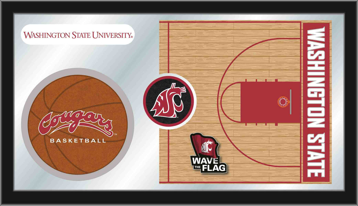 Washington State University Basketball Bar Mirror | Man Cave Authority | MBsktWashSt