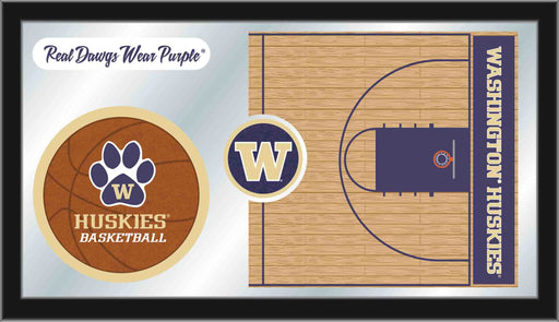 University of Washington Basketball Bar Mirror | Man Cave Authority | MBsktWashUn
