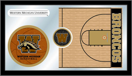Western Michigan University Basketball Bar Mirror | Man Cave Authority | MBsktWestMI