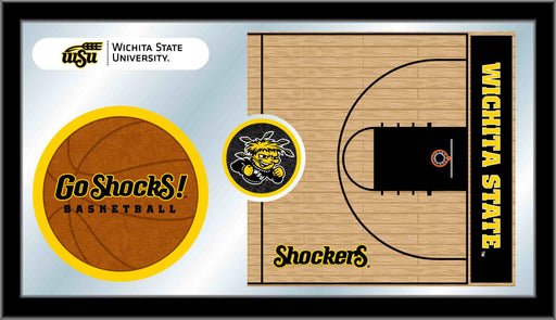 Wichita State University Basketball Bar Mirror | Man Cave Authority | MBsktWichSt