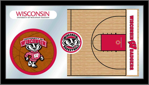 University of Wisconsin Basketball Bar Mirror | Man Cave Authority | MBsktWiscon