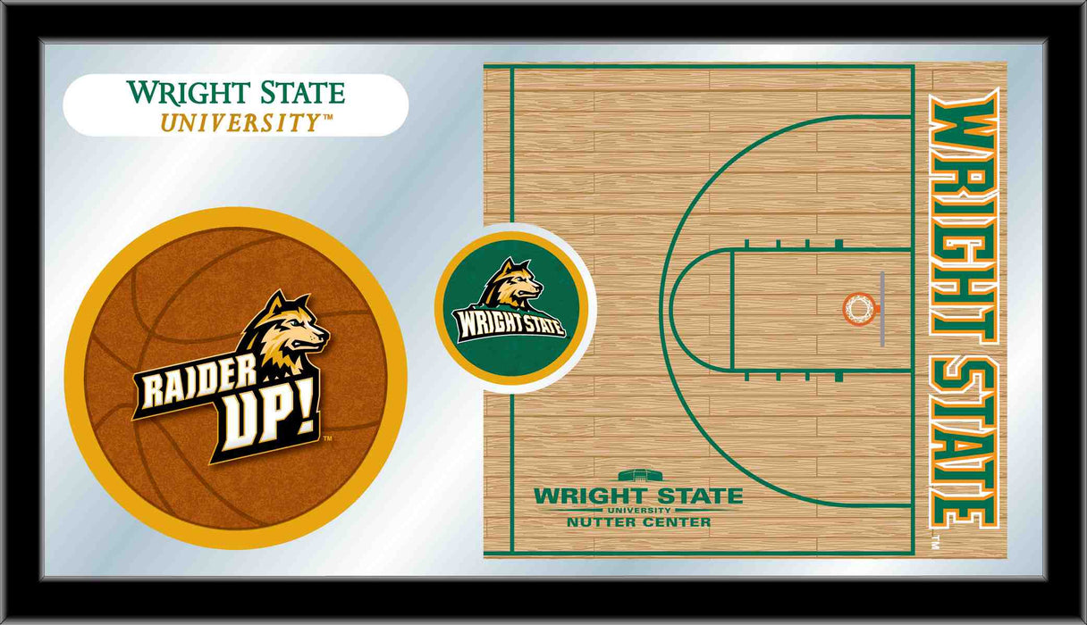 Wright State University Basketball Bar Mirror | Man Cave Authority | MBsktWrtStU