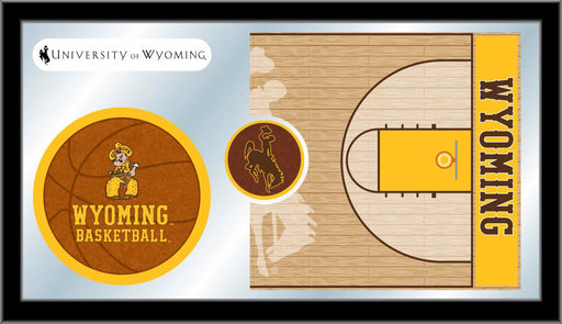 University of Wyoming Basketball Bar Mirror | Man Cave Authority | MBsktWymng