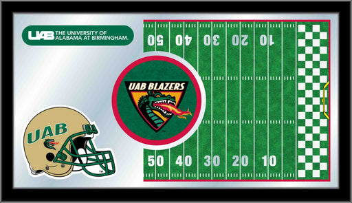 University of Alabama at Birmingham Football Bar Mirror | Man Cave Authority | MFtblAlaBir