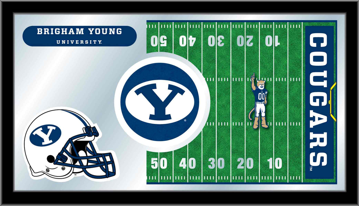 Brigham Young University Football Bar Mirror | Man Cave Authority | MFtblBrigYn
