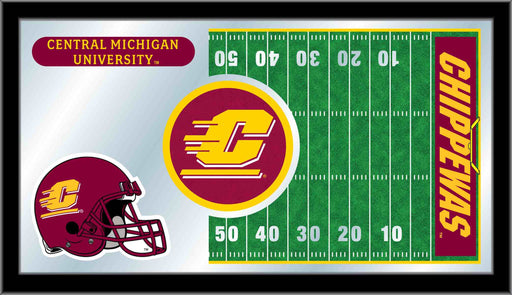 Central Michigan University Football Bar Mirror | Man Cave Authority | MFtblCenMic
