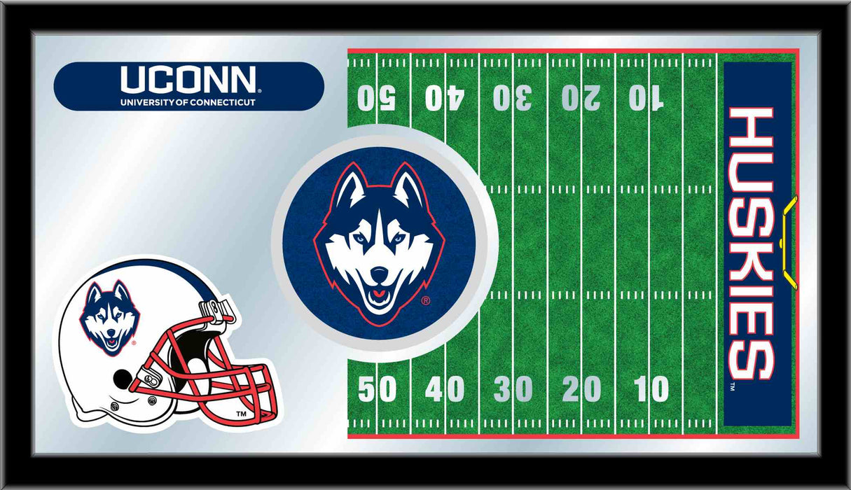 University of Connecticut Football Bar Mirror | Man Cave Authority | MFtblConnUn