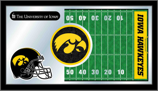 University of Iowa Football Bar Mirror | Man Cave Authority | MFtblIowaUn