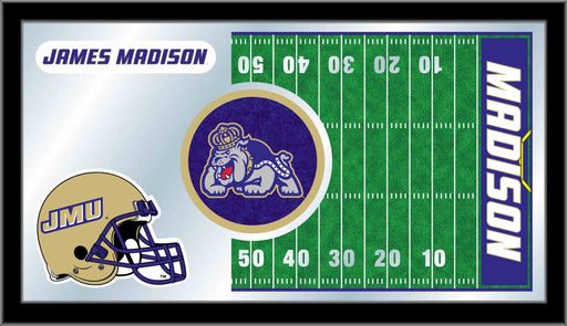 James Madison University Football Bar Mirror | Man Cave Authority | MFtblJmsMad