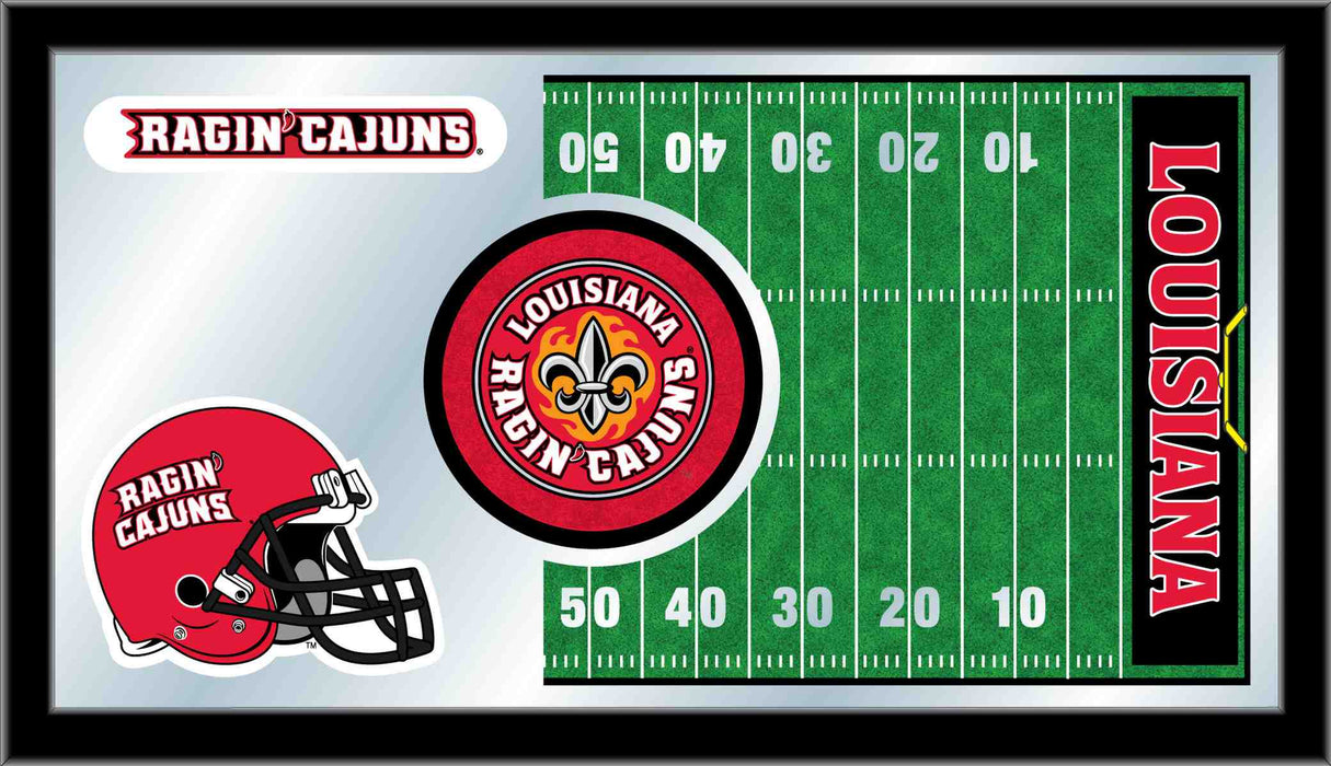 University of Louisiana at Lafayette Football Bar Mirror | Man Cave Authority | MFtblLA-Laf