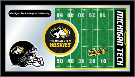 Michigan Tech University Football Bar Mirror | Man Cave Authority | MFtblMITech
