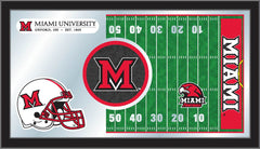 Miami University (OH) Football Bar Mirror | Man Cave Authority | MFtblMia-OH