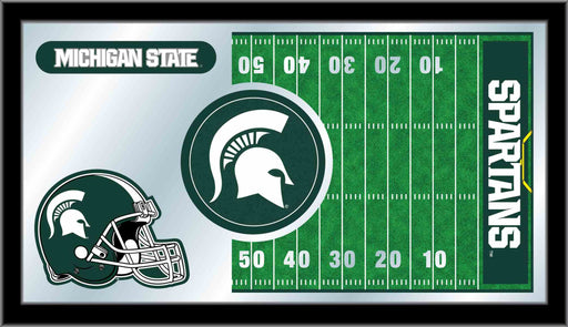 Michigan State University Football Bar Mirror | Man Cave Authority | MFtblMichSt