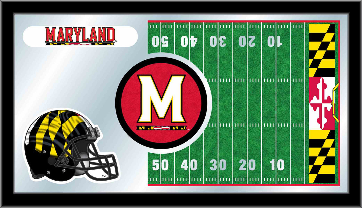 University of Maryland Football Bar Mirror | Man Cave Authority | MFtblMrylnd