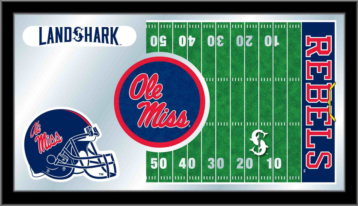 University of Mississippi Football Bar Mirror | Man Cave Authority | MFtblMssppU