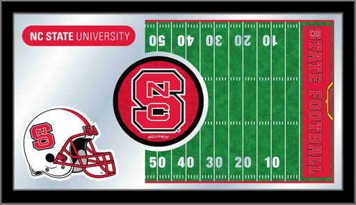 North Carolina State University Football Bar Mirror | Man Cave Authority | MFtblNCarSt