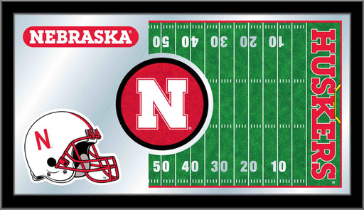 University of Nebraska Football Bar Mirror | Man Cave Authority | MFtblNebrUn