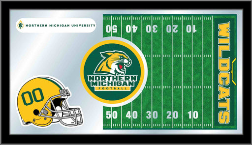 Northern Michigan University Football Bar Mirror | Man Cave Authority | MFtblNorMic