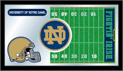 University of Notre Dame Football Bar Mirror | Man Cave Authority | MFtblNotreD