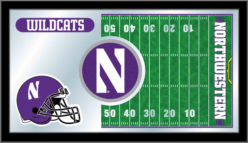 Northwestern University Football Bar Mirror | Man Cave Authority | MFtblNthwst