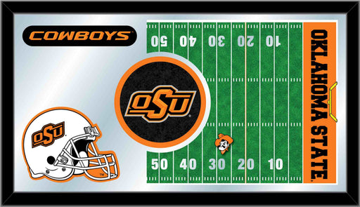 Oklahoma State University Football Bar Mirror | Man Cave Authority | MFtblOKStUn