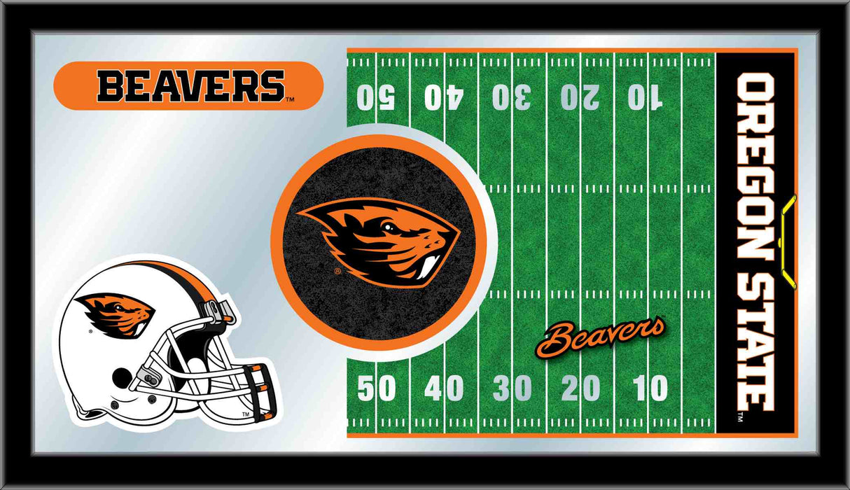 Oregon State University Football Bar Mirror | Man Cave Authority | MFtblOregSt