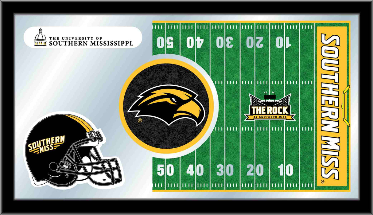 University of Southern Mississippi Football Bar Mirror | Man Cave Authority | MFtblSouMis