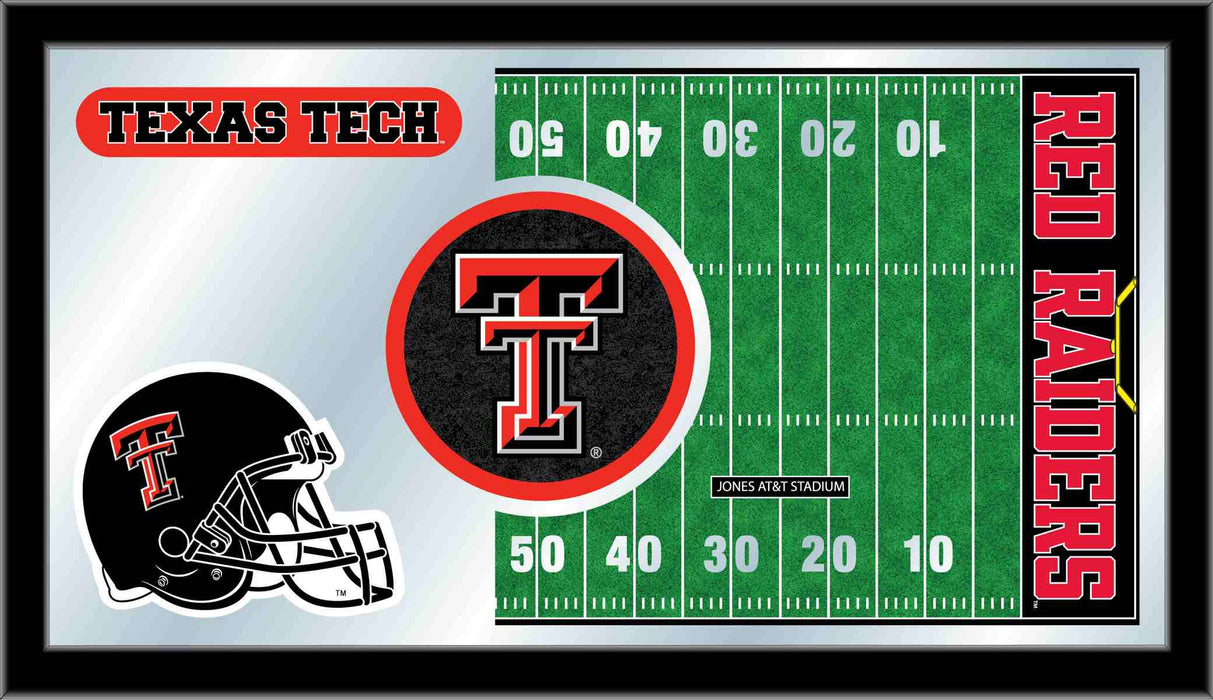 Texas Tech University Football Bar Mirror | Man Cave Authority | MFtblTXTech