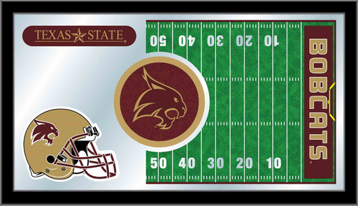 Texas State University Football Bar Mirror | Man Cave Authority | MFtblTexsSt