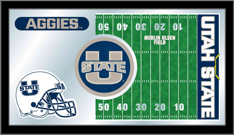 Utah State University Football Bar Mirror