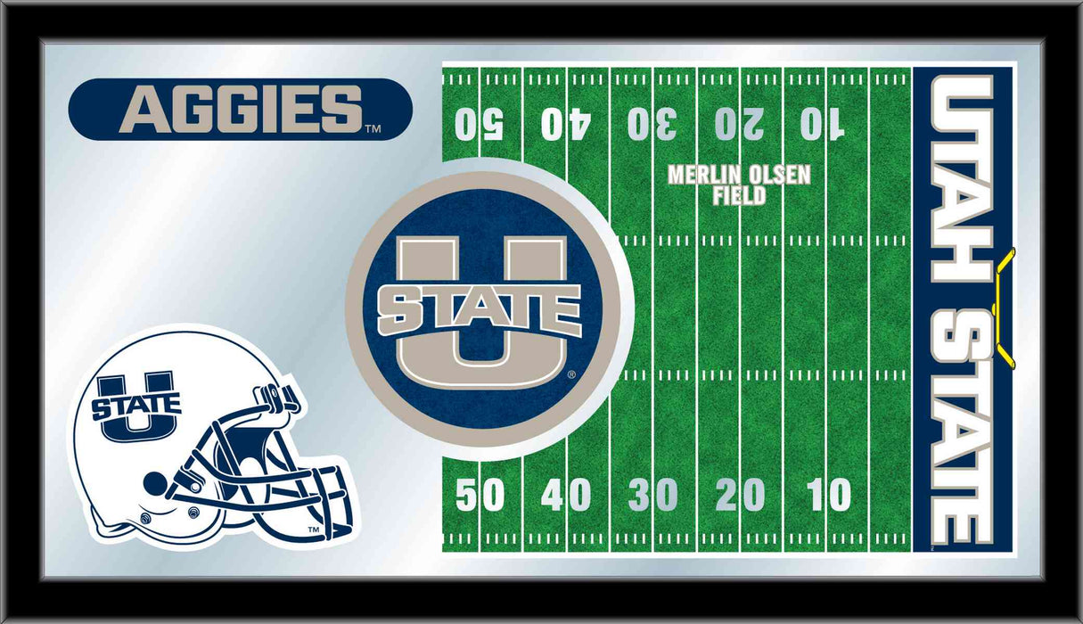 Utah State University Football Bar Mirror | Man Cave Authority | MFtblUtahSt