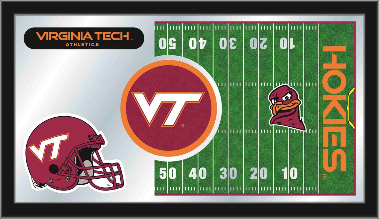 Virginia Tech University Football Bar Mirror | Man Cave Authority | MFtblVATech