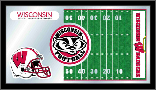 University of Wisconsin Football Bar Mirror | Man Cave Authority | MFtblWiscon