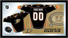 Anaheim Ducks Custom Jersey Bar Mirror | Man Cave Authority | MJrsyAnaDks