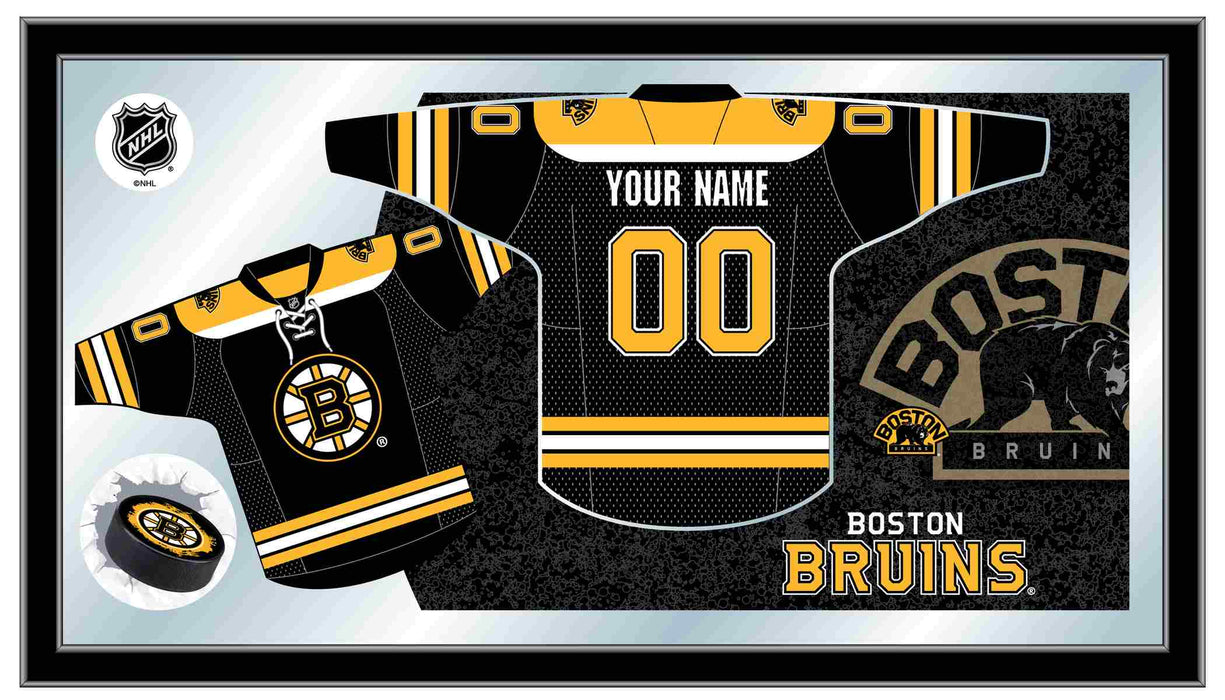 Boston Bruins Custom Jersey Bar Mirror | Man Cave Authority | MJrsyBosBru