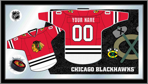 Chicago Blackhawks Custom Jersey Bar Mirror | Man Cave Authority | MJrsyChiHwk