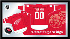 Detroit Red Wings Custom Jersey Bar Mirror | Man Cave Authority | MJrsyDetRed