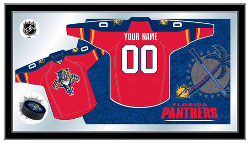 Florida Panthers Custom Jersey Bar Mirror | Man Cave Authority | MJrsyFlaPan