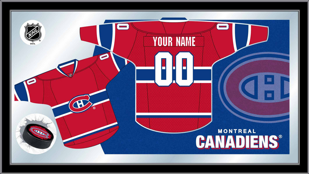 Montreal Canadiens Custom Jersey Bar Mirror | Man Cave Authority | MJrsyMonCan