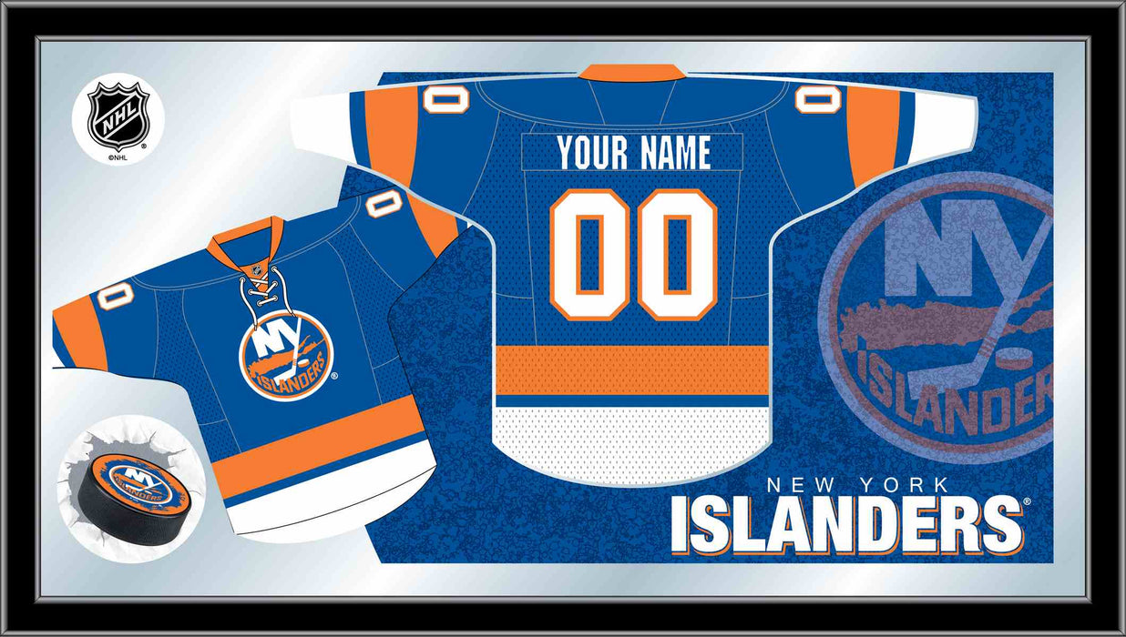 New York Islanders Custom Jersey Bar Mirror | Man Cave Authority | MJrsyNYIsln